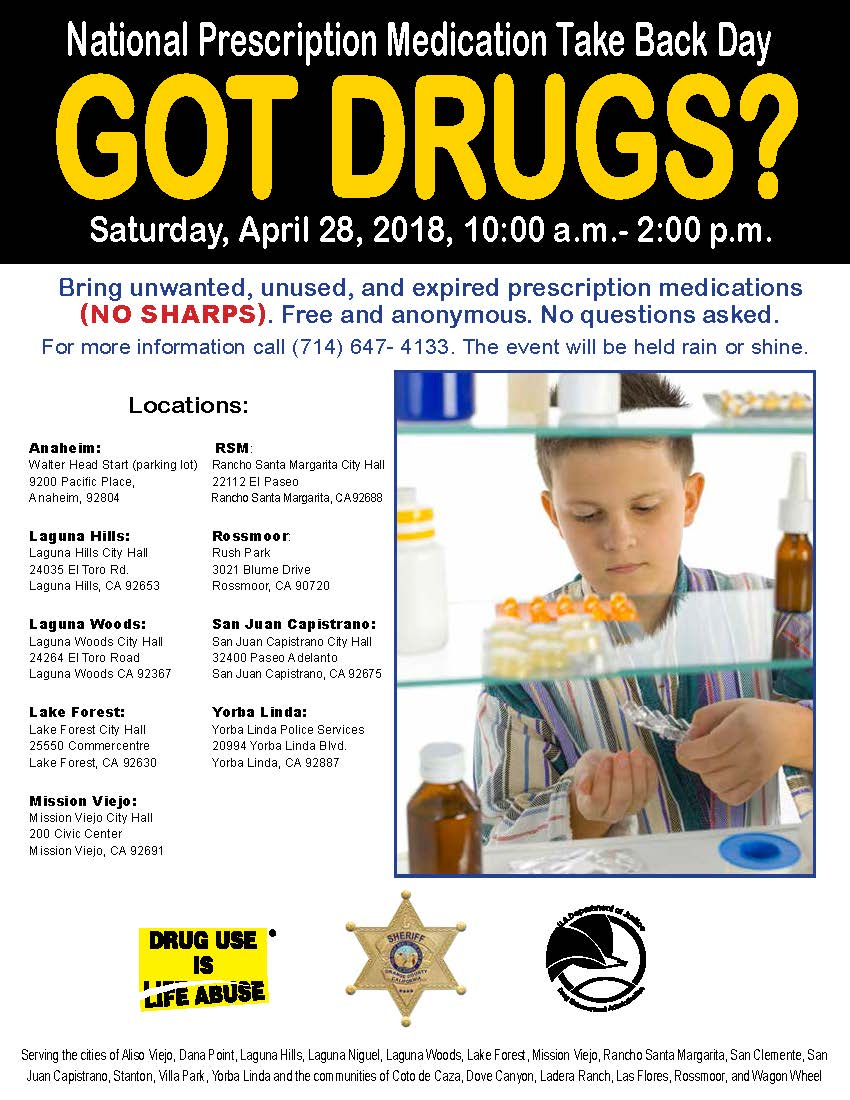 National Prescription Drug Take Back Day Flyer