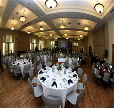 Ballroom setup for event
