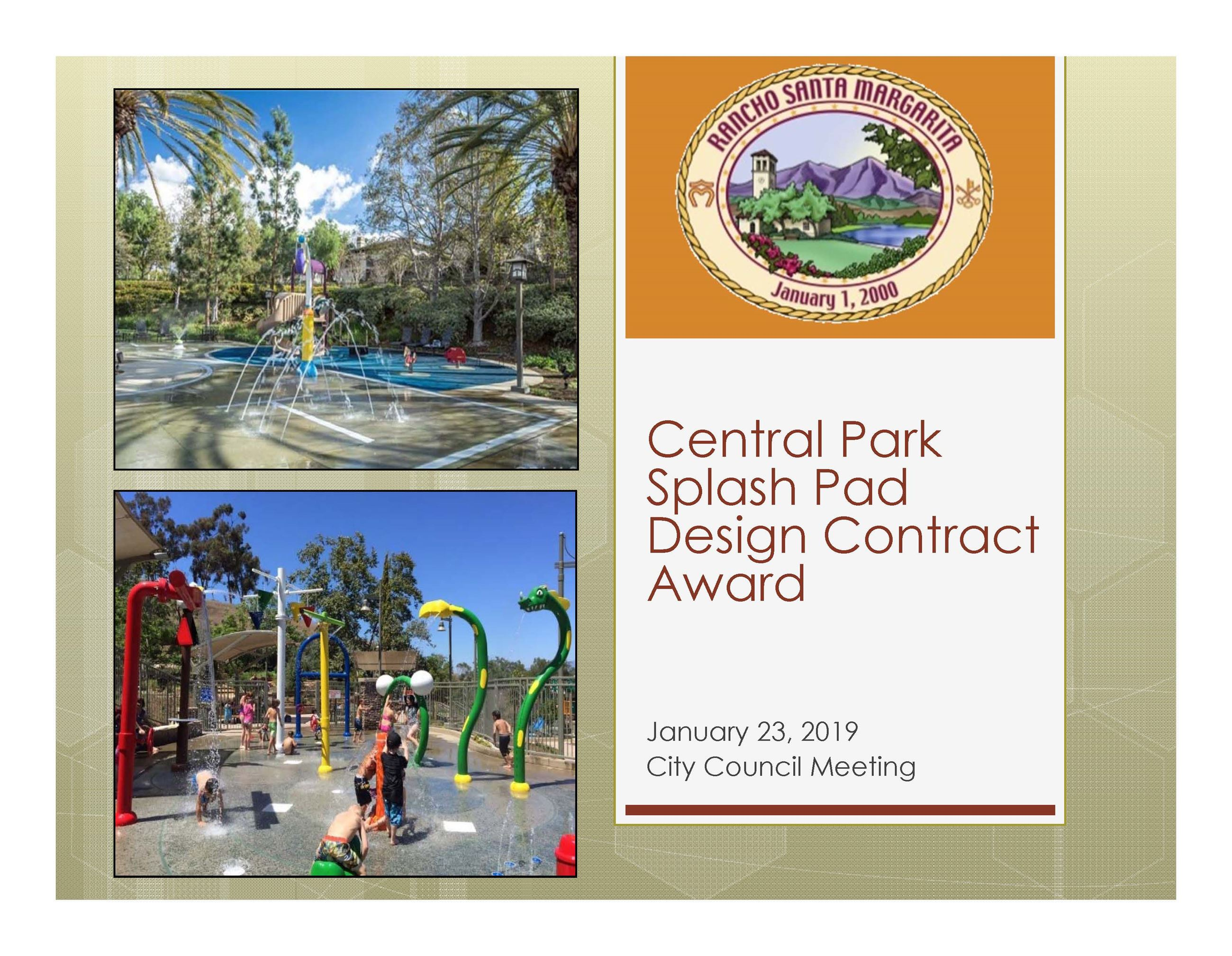 01-23-19 Splash Pad Award