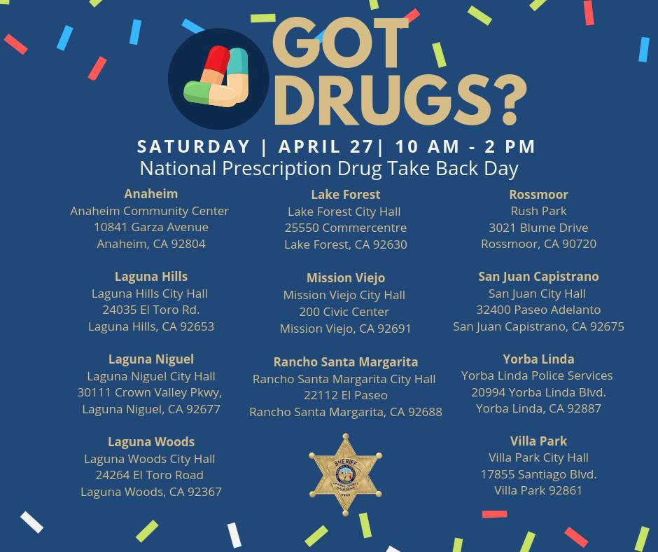 Prescription Drug Take Back Day locations 2019