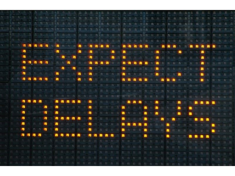 Expect Delays road sign