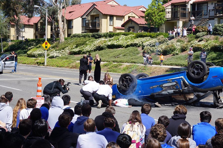 Simulated car accident for Every 15 Minutes program