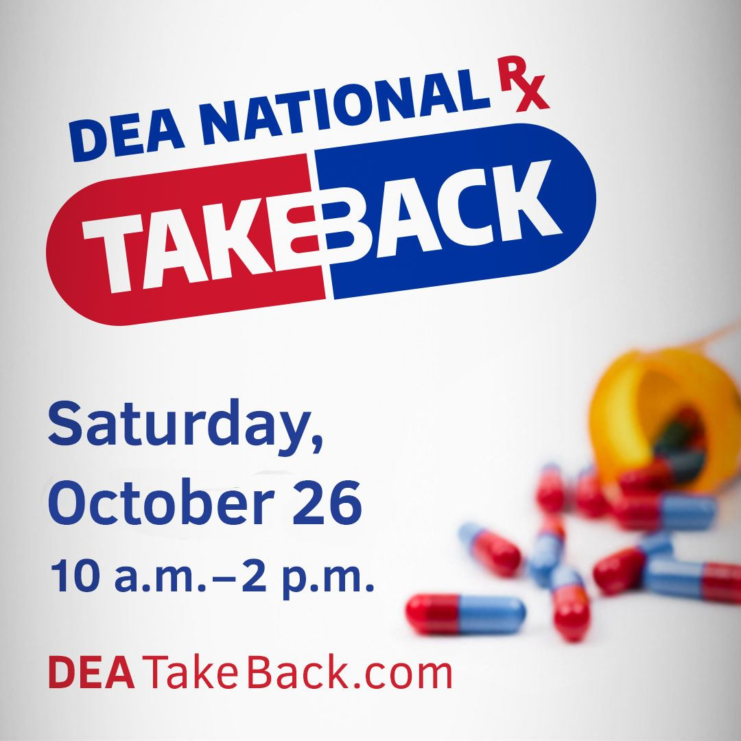 DEA Prescription Medication Take Back Day Graphic