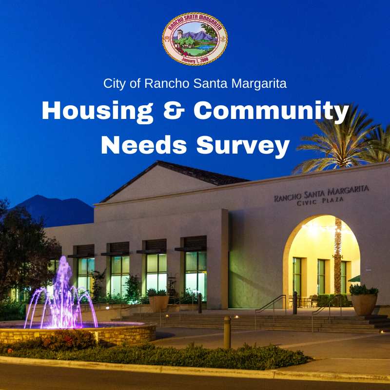 City of Rancho Santa Margarita Housing and Community Needs Survey graphic