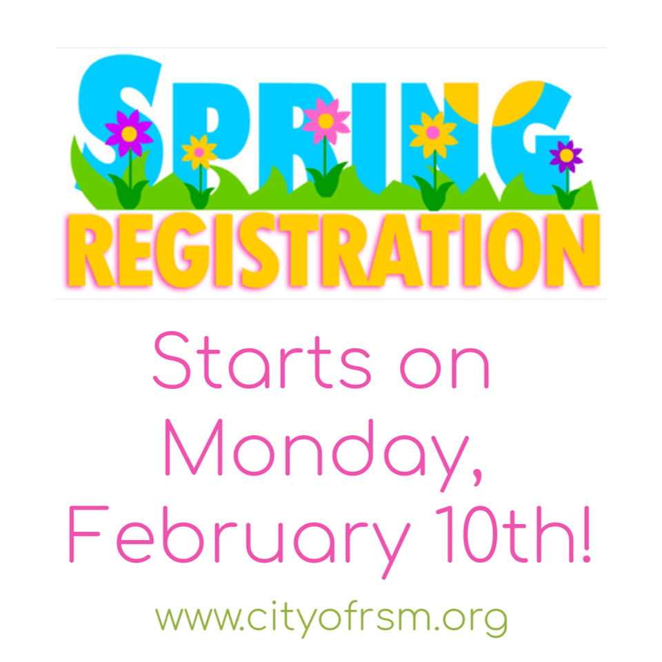 Spring class registration graphic