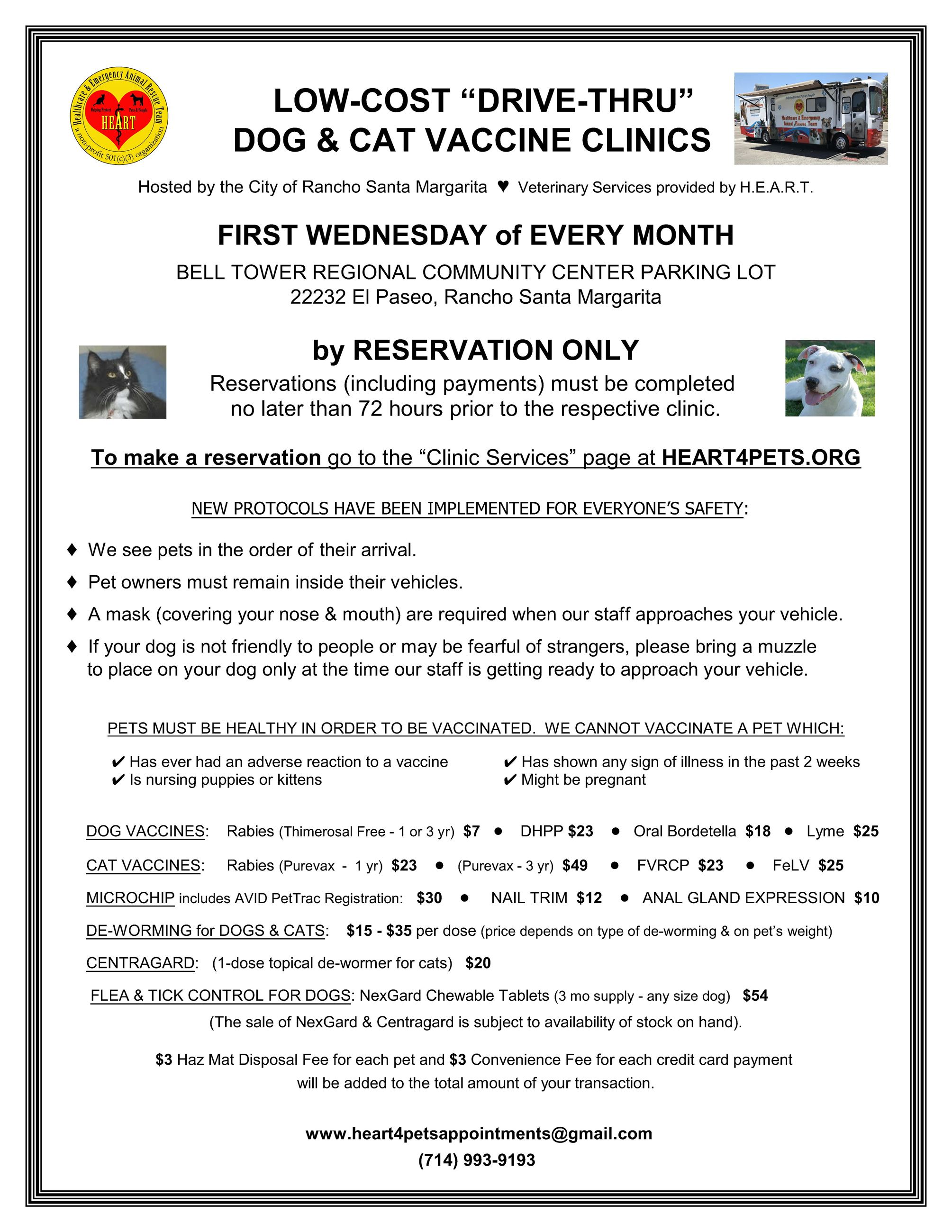 RSM Drive Thru Vaccine Clinic Flyer 092020