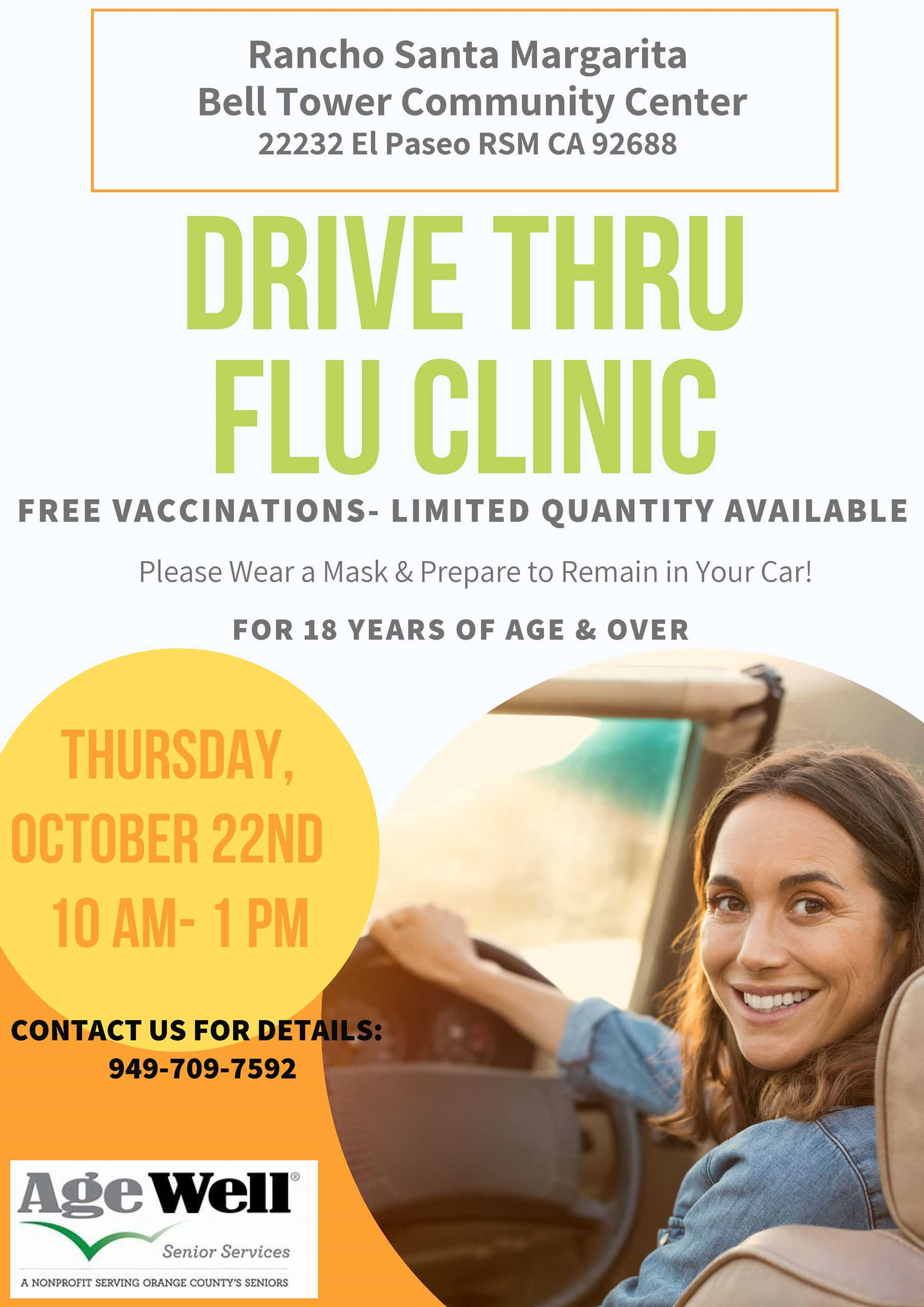 Age Well Senior Services Drive Thru Flu Clinic 2020