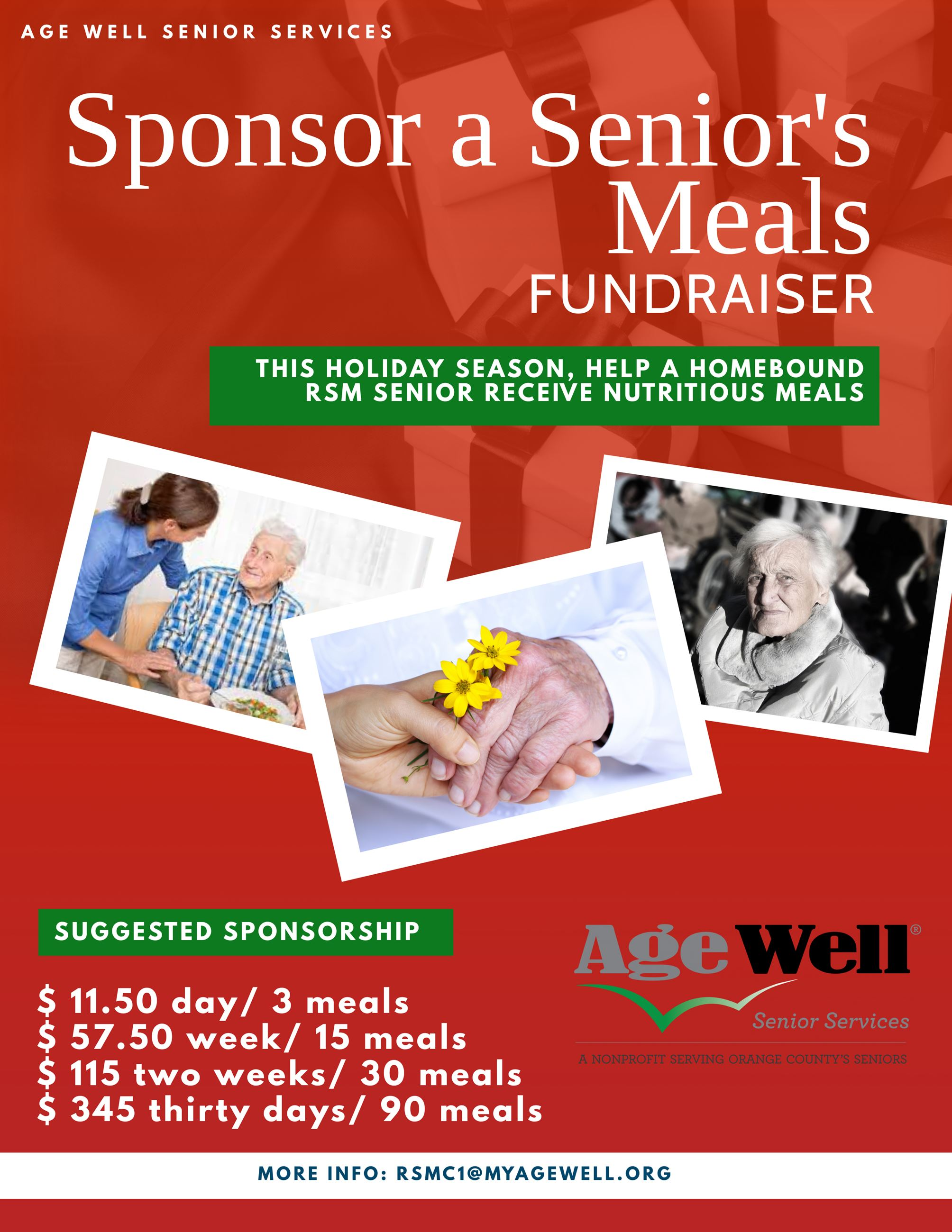 Sponsor a Senior Meals Flyer Christmas 2020