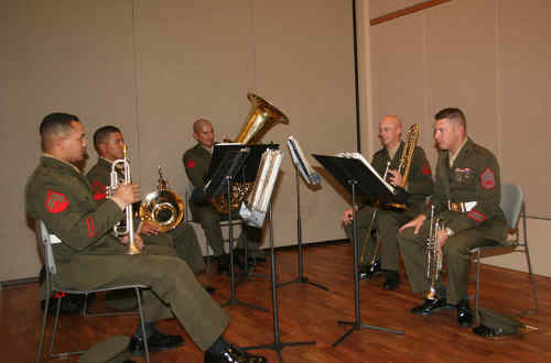 Marine Corps Band playing song