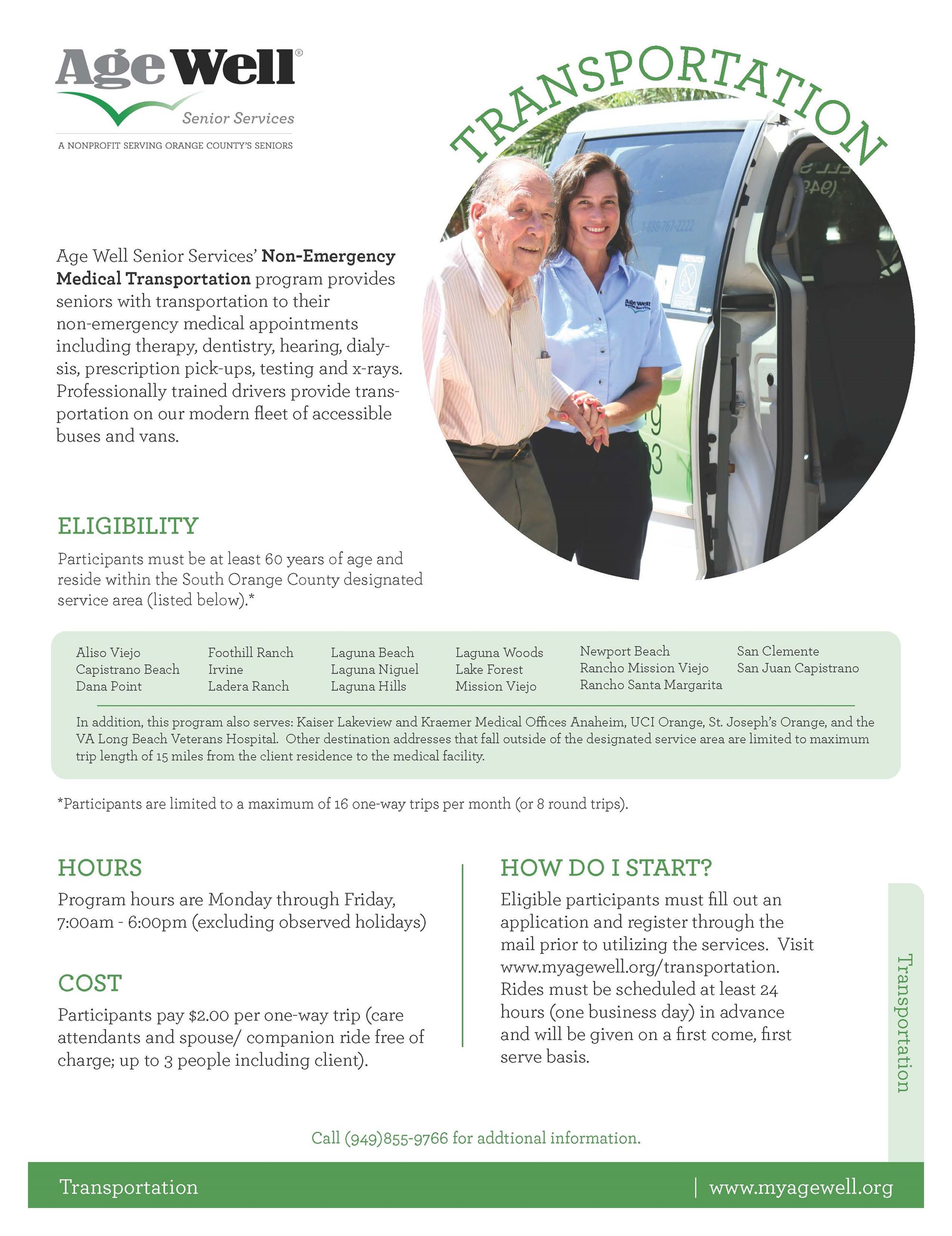 Age Well Senior Services Transportation Flyer_2020