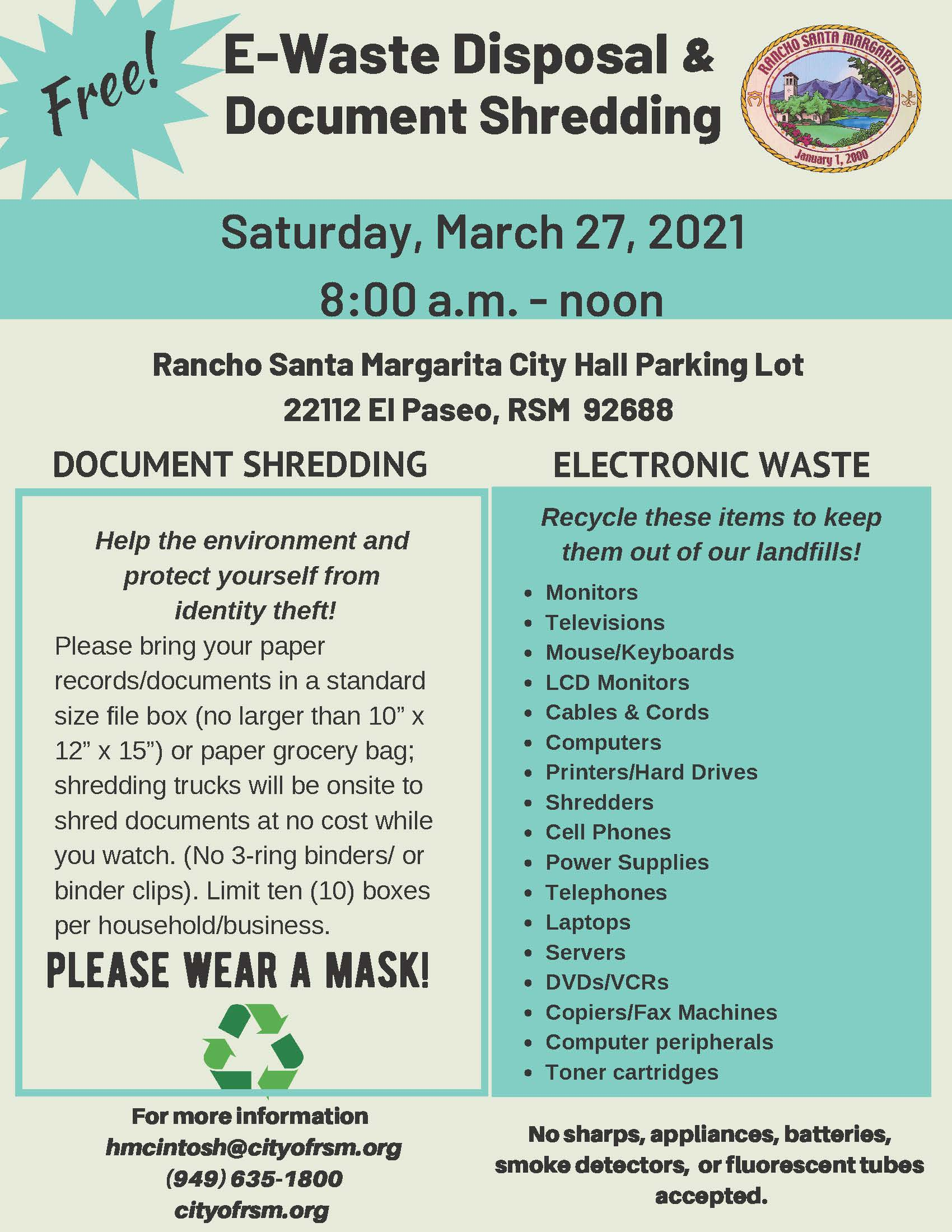 EWaste Doc Shred Flyer 03272021